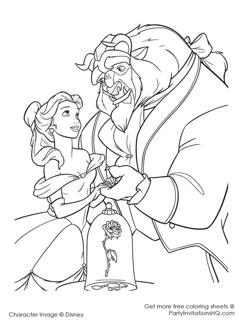 beauty and the beast colouring pages beauty and the beast coloring pages beast and pages beauty the colouring
