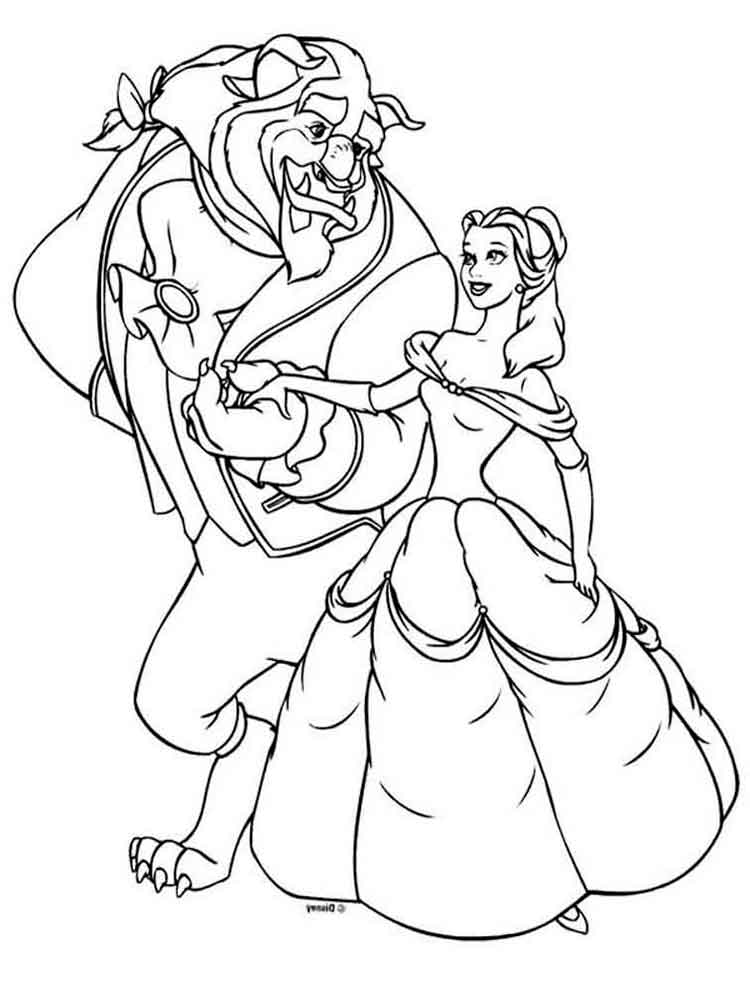 beauty and the beast colouring pages beauty and the beast coloring pages colouring the pages and beauty beast
