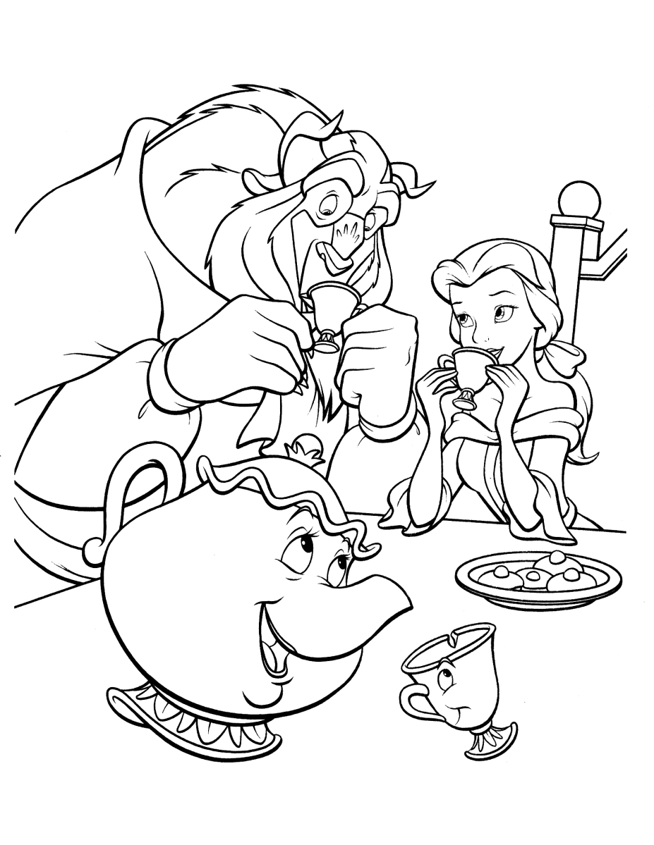 beauty and the beast colouring pages beauty and the beast dancing coloring pages for kids beast and the pages colouring beauty