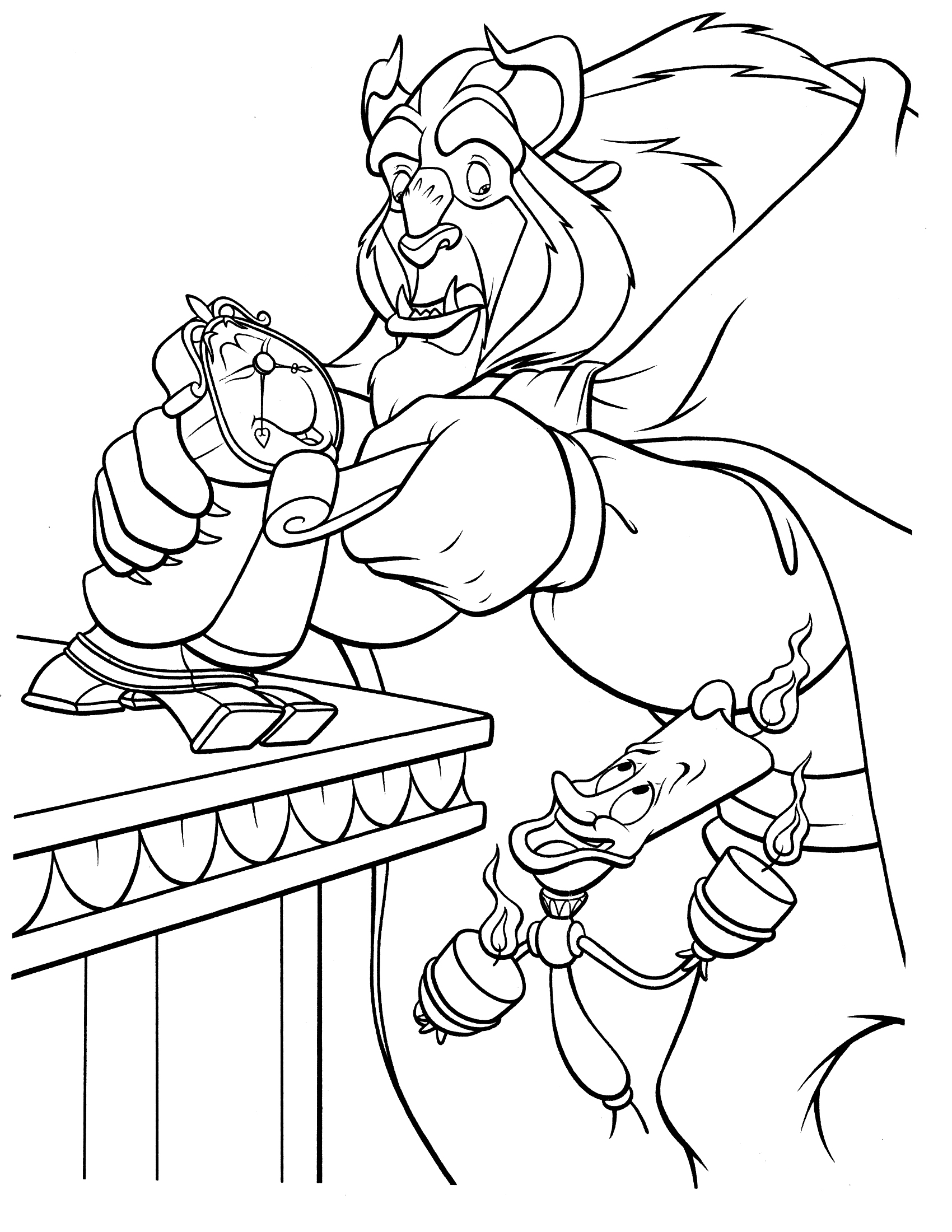 beauty and the beast colouring pages free easy to print beauty and the beast coloring pages pages and colouring beast beauty the