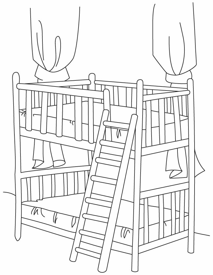 bed coloring pages bed coloring page twisty noodle pages coloring bed