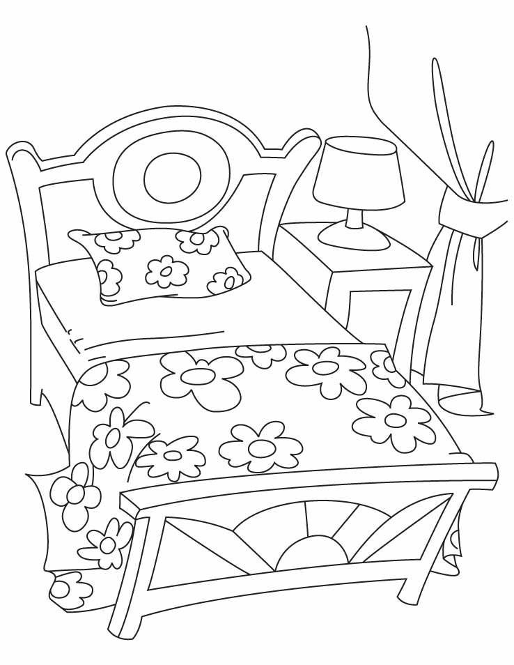 bed coloring pages bed coloring pages coloring bed pages