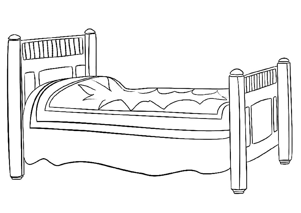 bed coloring pages bed coloring pages to download and print for free pages bed coloring