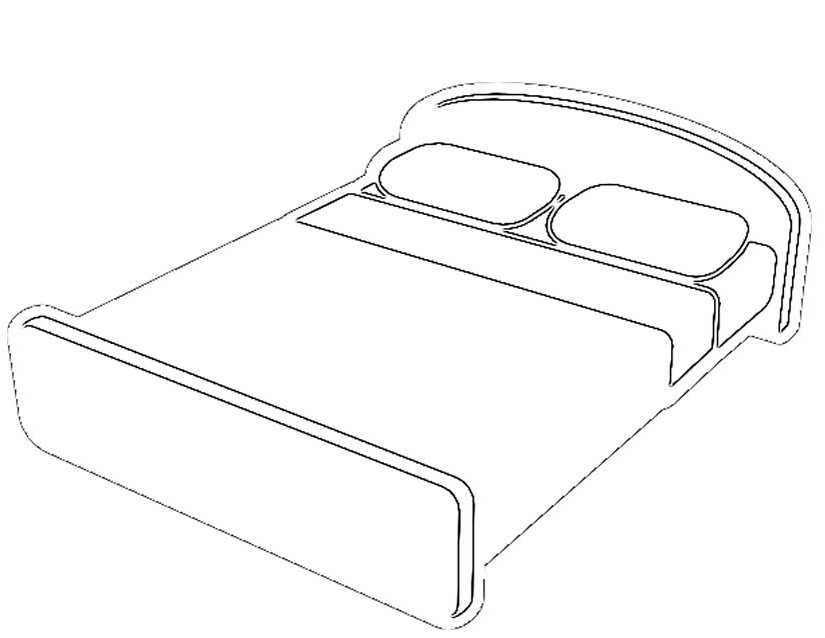 bed coloring pages small bed with quilt coloring page coloring bed pages