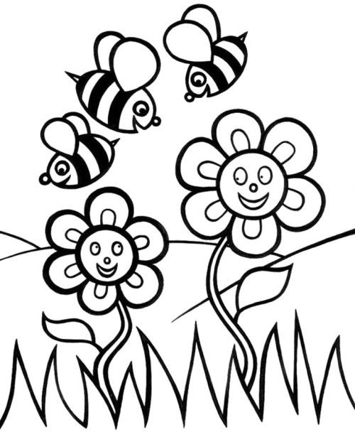 bee on flower coloring page daisy coloring pages best coloring pages for kids flower coloring bee page on