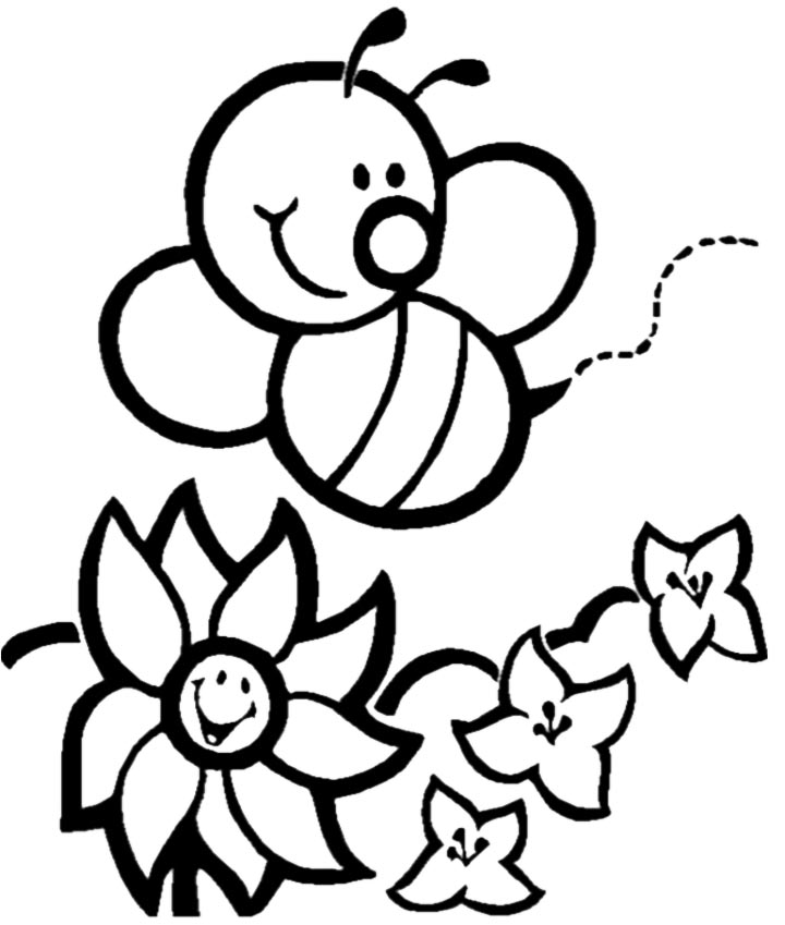 bee on flower coloring page spring bees coming towards flowers coloring page bee flower bee on page coloring