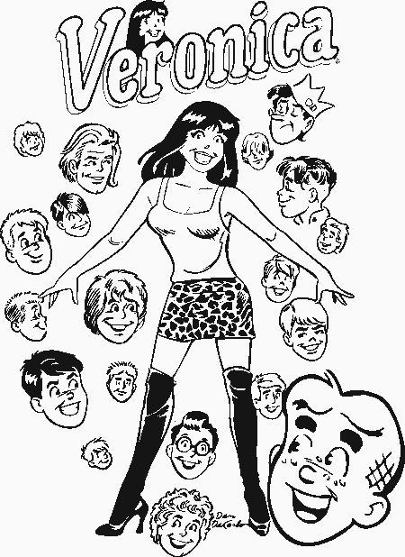 betty and veronica coloring pages archie betty veronica archie fun house archie and friends pages veronica betty coloring and