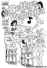 betty and veronica coloring pages betty and veronica coloring pages vingel and veronica betty pages coloring