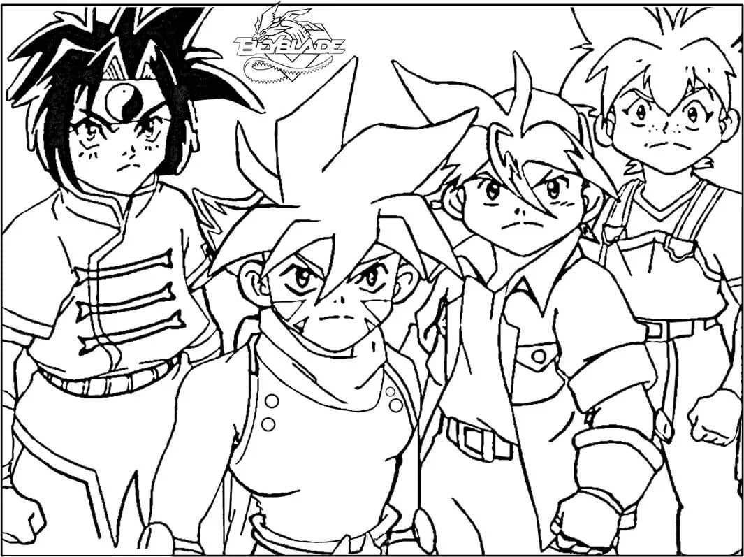 beyblade characters coloring pages beyblade team coloring page for kids manga anime coloring coloring beyblade pages characters