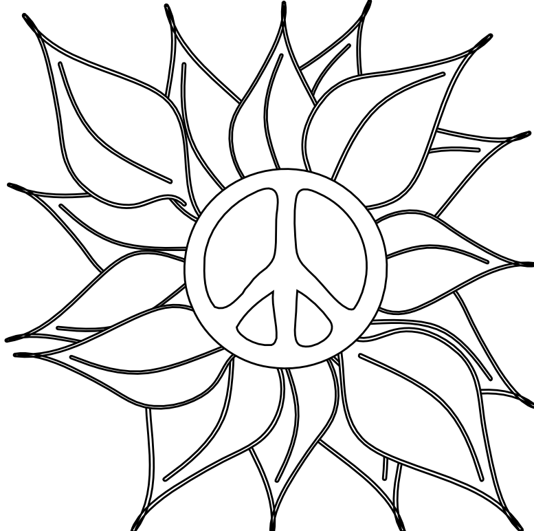 big peace sign coloring pages adult coloring page peace sign tree printable line art big peace coloring sign pages