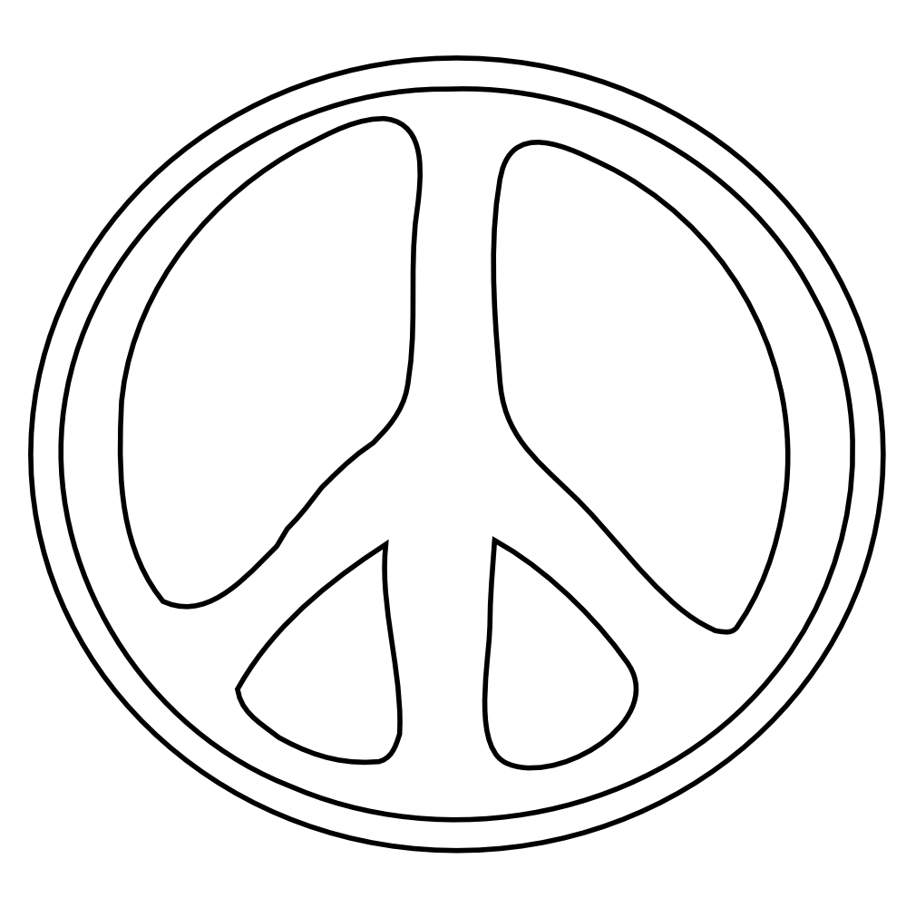 big peace sign coloring pages hand peace sign drawing clipart panda free clipart images big pages sign peace coloring