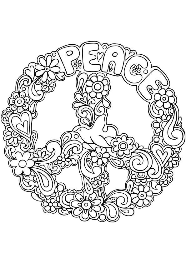 big peace sign coloring pages pin on doll clothes big sign coloring peace pages