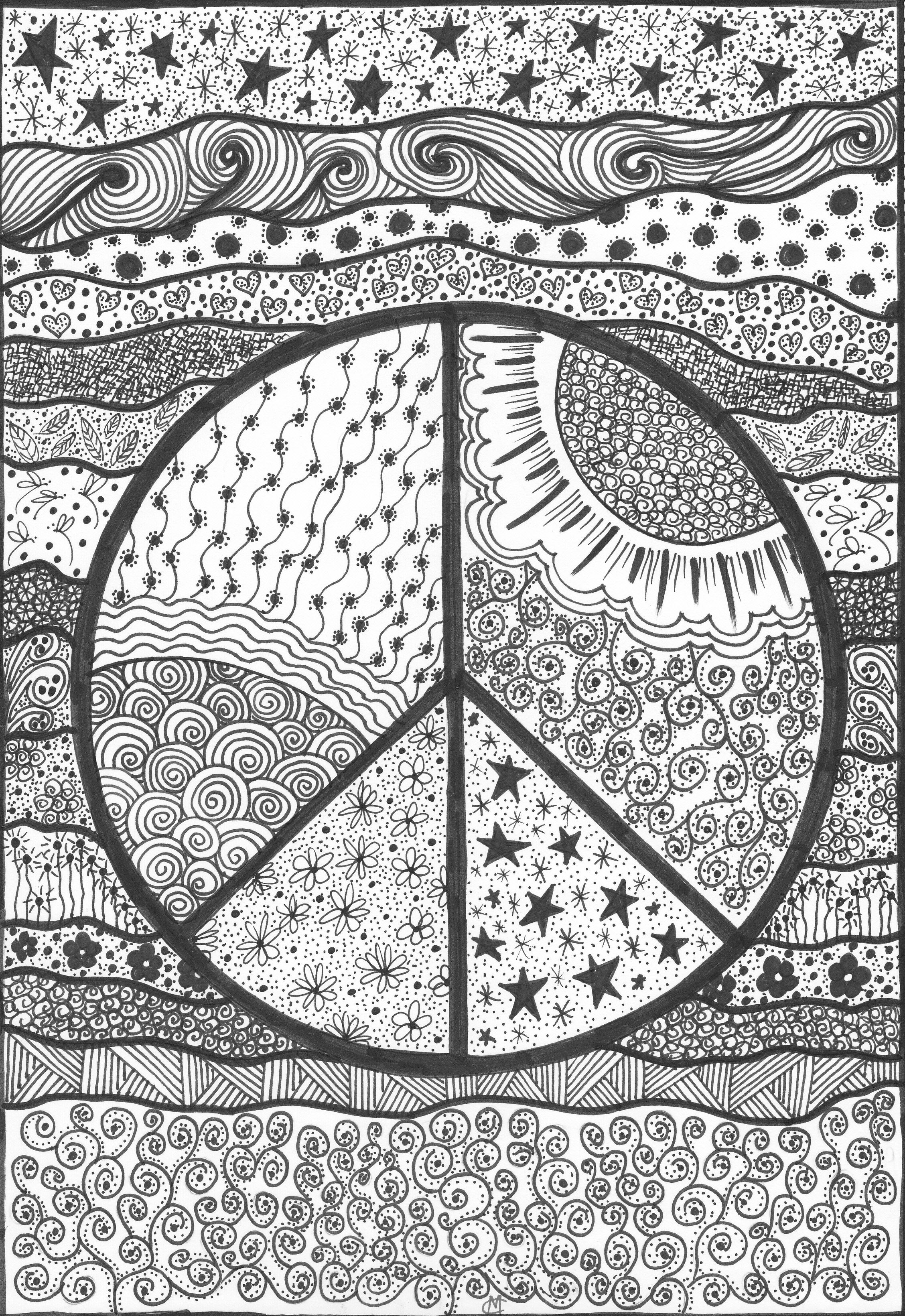 big peace sign coloring pages pinterest the worlds catalog of ideas big coloring sign pages peace
