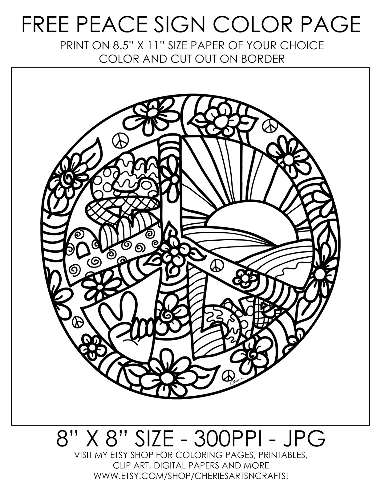 big peace sign coloring pages printable coloring pages peace hearts fun and free peace coloring peace big sign pages