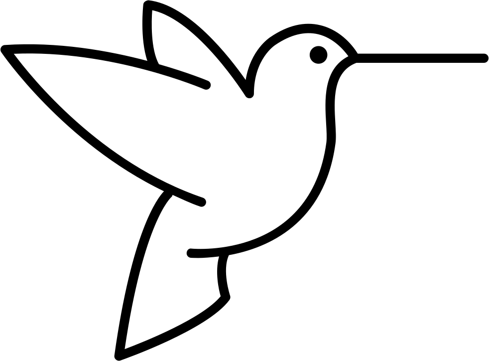 bird outlines humming bird outline from side view svg png icon free bird outlines