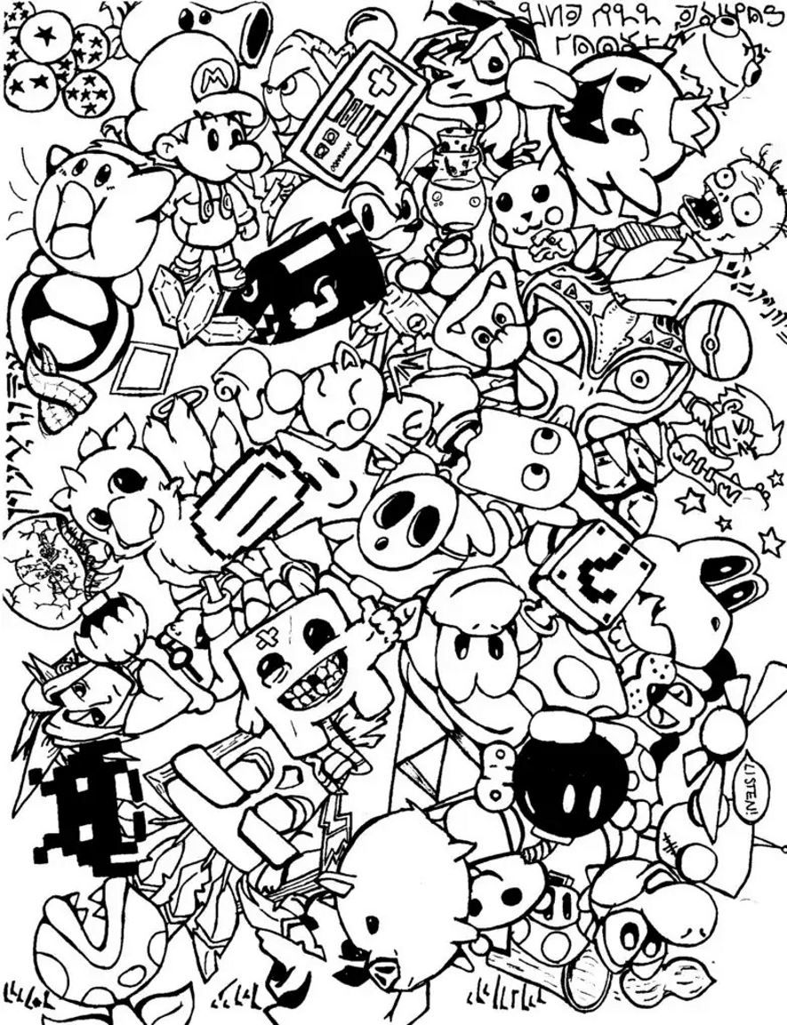 black and white coloring pages for adults black and white geometric line art by gdj black and adults coloring white pages for black and