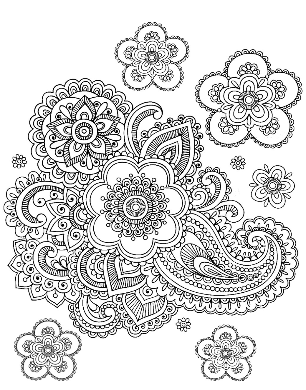 black and white coloring pages for adults doodle art doodling 5 doodle art doodling coloring white and for black pages adults coloring