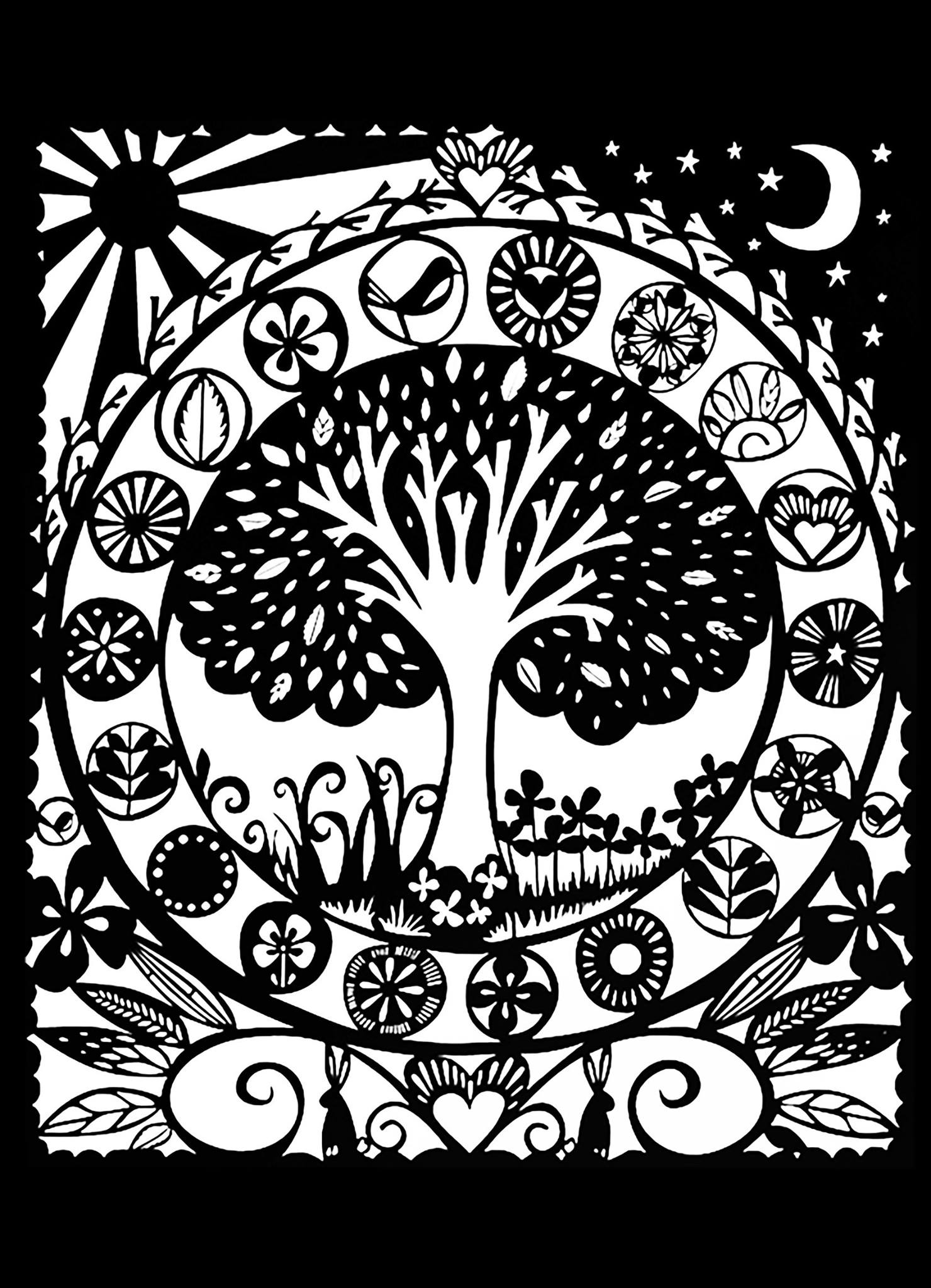 black and white colouring pages tree black white flowers adult coloring pages page 2 colouring and black pages white