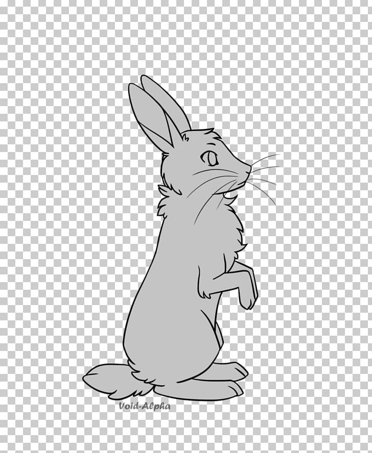 black and white rabbit drawing domestic rabbit hare line art drawing png clipart animal black white drawing and rabbit