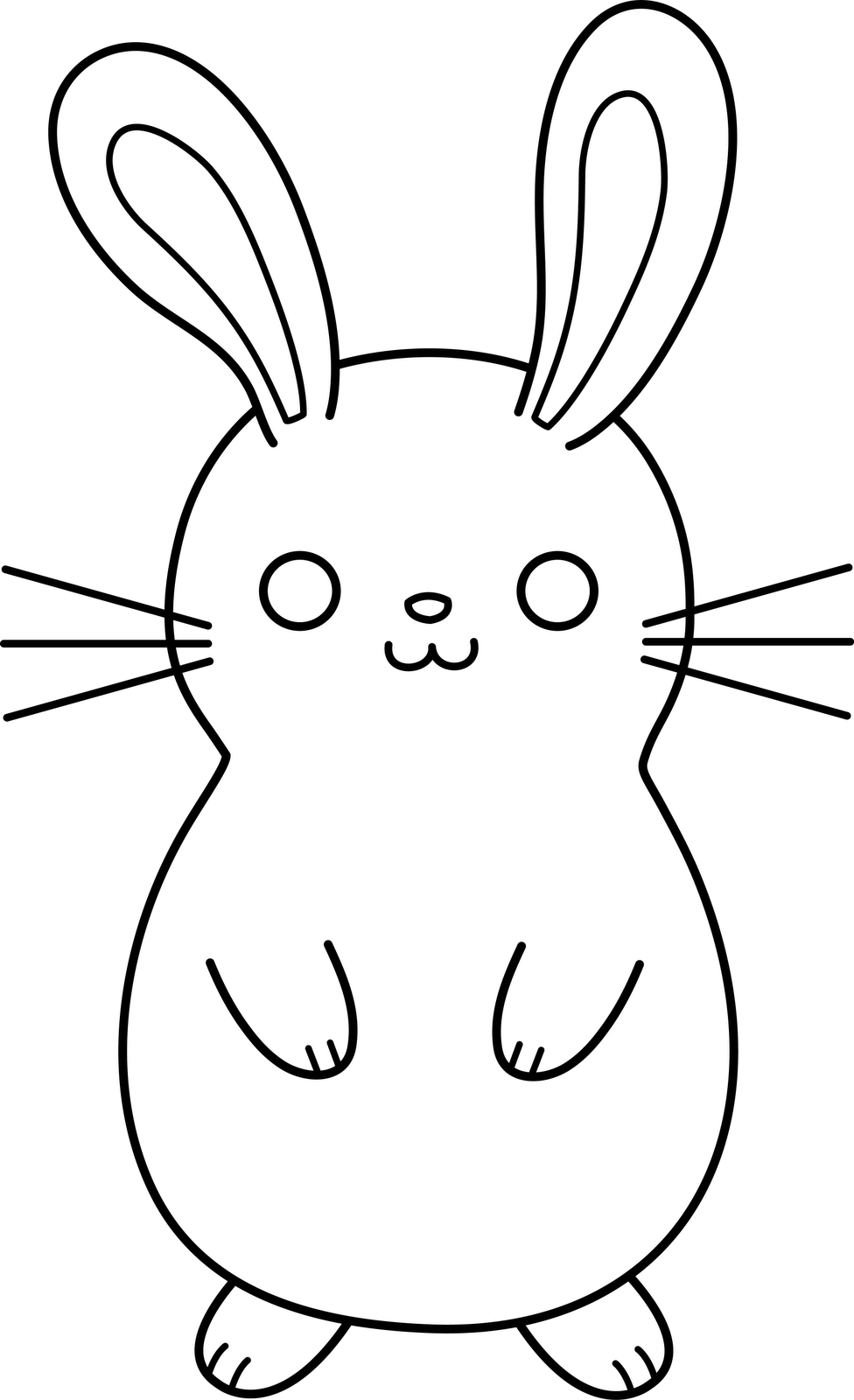 black and white rabbit drawing onlinelabels clip art the white rabbit black rabbit and white black drawing