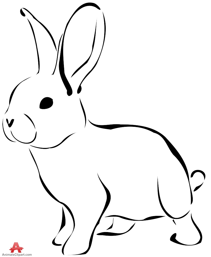 black and white rabbit drawing rabbit aceo print black and white line drawing animal drawing white black and rabbit