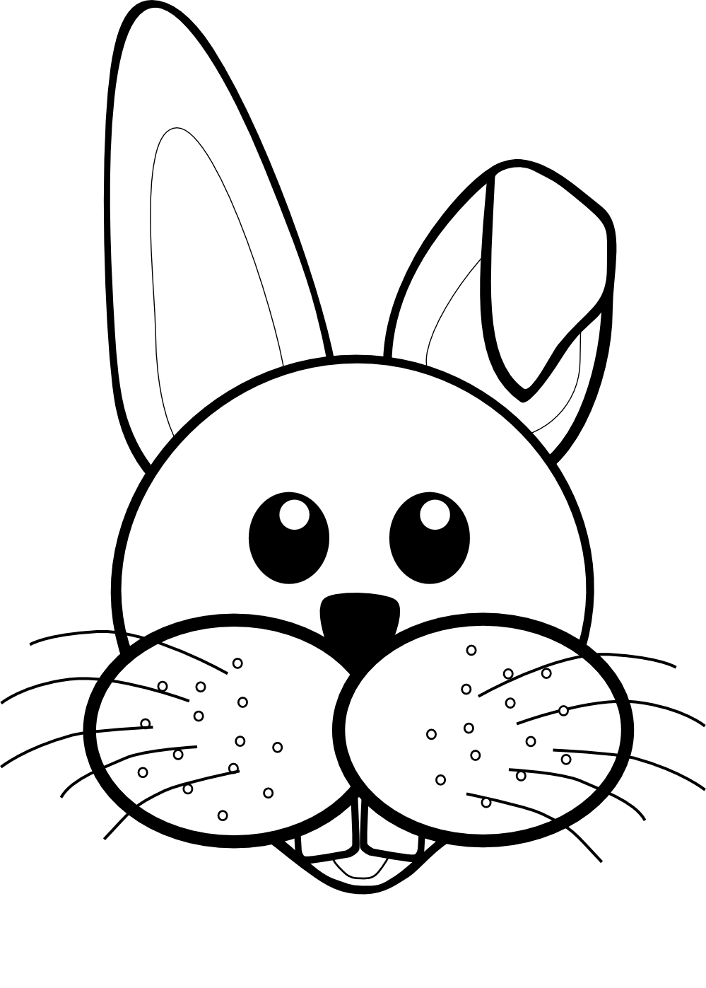 black and white rabbit drawing rabbit clipart free images clipartbarn black white and drawing rabbit