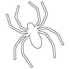 black spider coloring page best spider clipart 29817 clipartioncom coloring black page spider