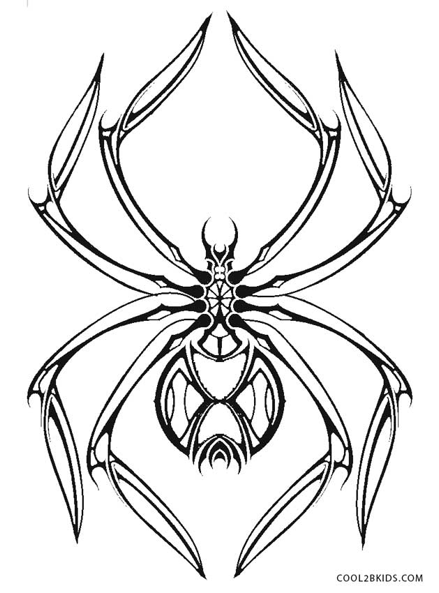 black spider coloring page spiders coloring pages supercoloringcom black spider page coloring