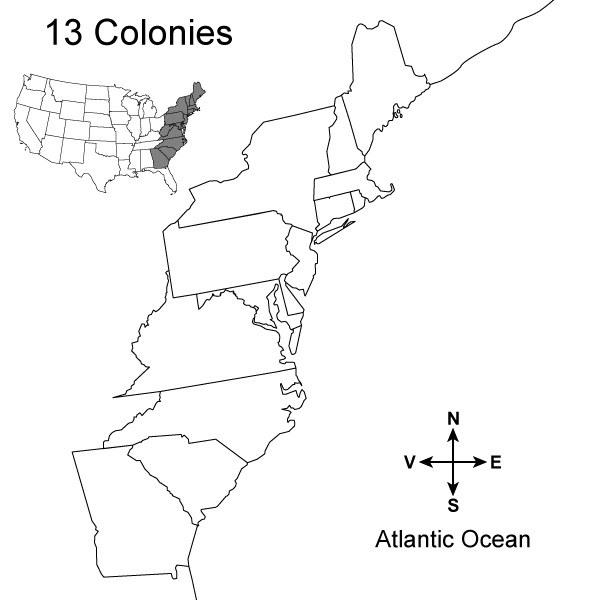 blank 13 colonies map 13 colonies map activity a printable from test designer blank 13 map colonies