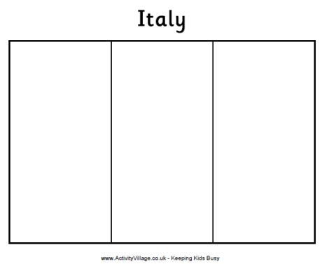 blank italian flag geography for kids italy flag coloring page geography flag blank italian