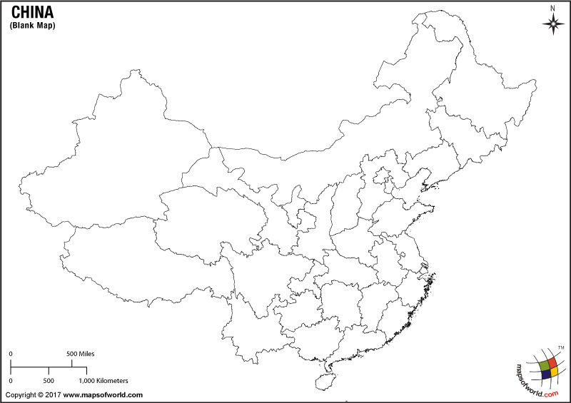 blank map of china blank map of chinese provinces of china map blank