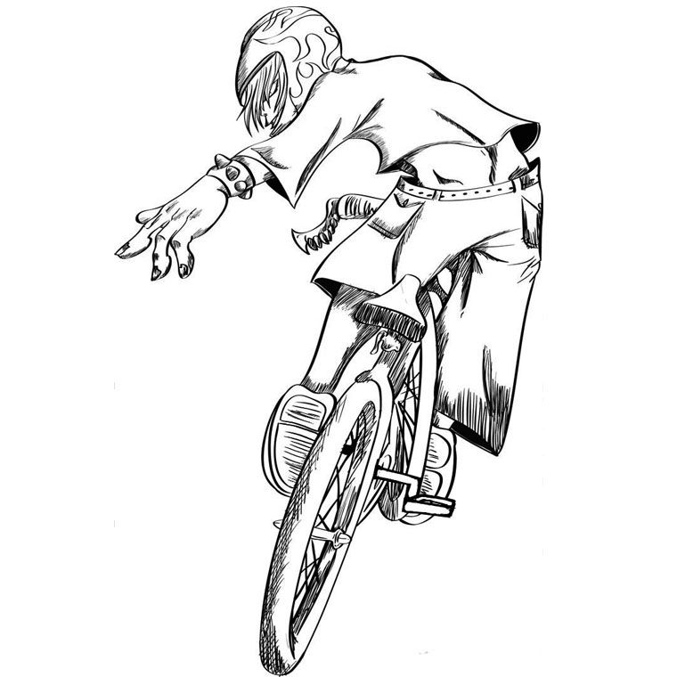 bmx coloring pages bmx bike coloring page at getcoloringscom free pages coloring bmx