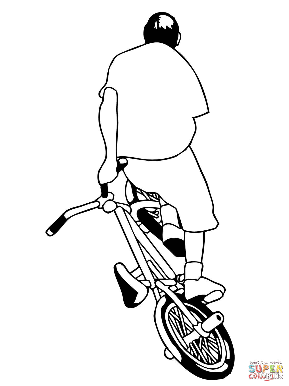 bmx printable coloring pages bmx coloring page coloring home bmx printable pages coloring 1 1