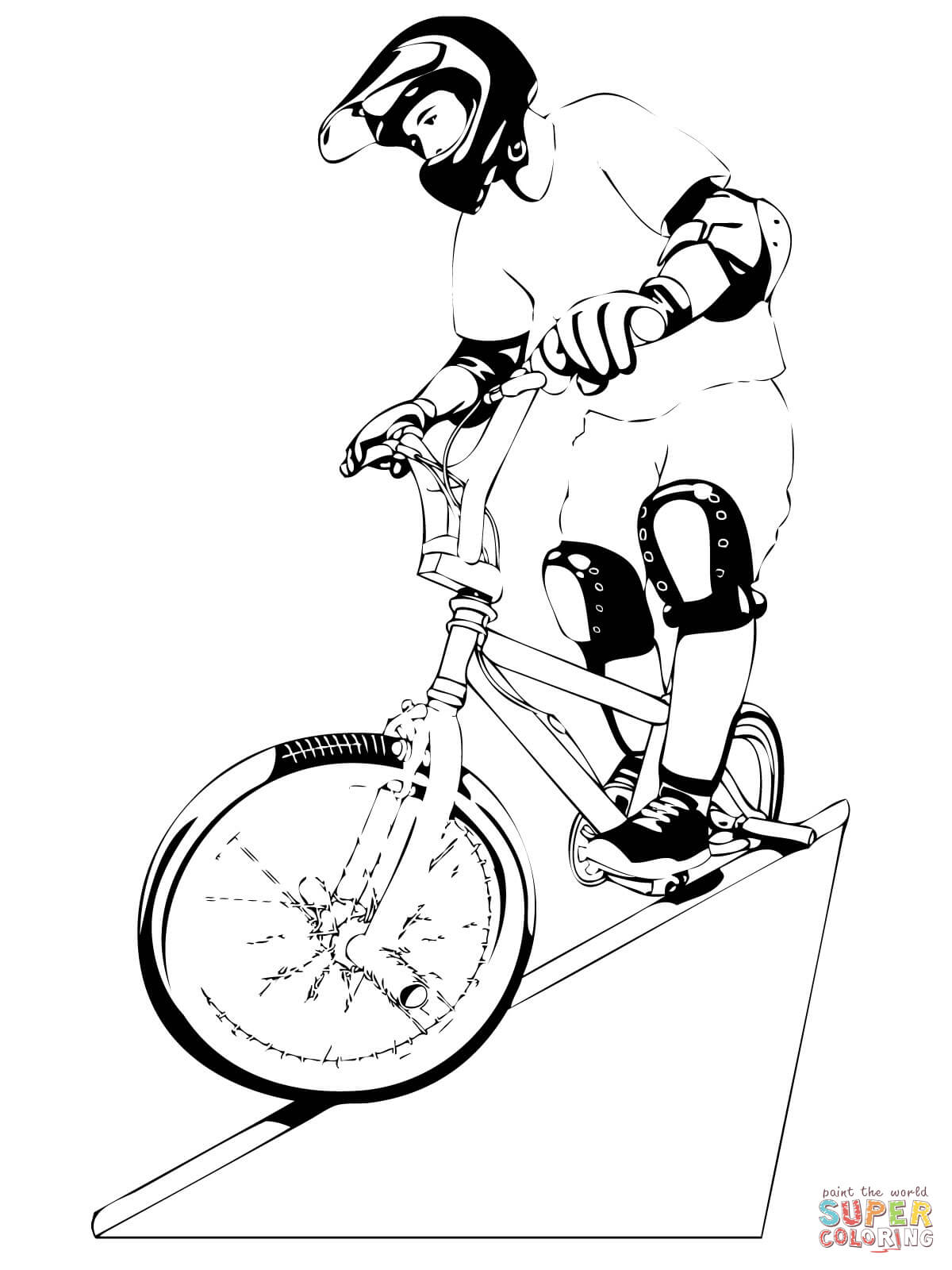 bmx printable coloring pages bmx coloring page coloring home pages printable bmx coloring