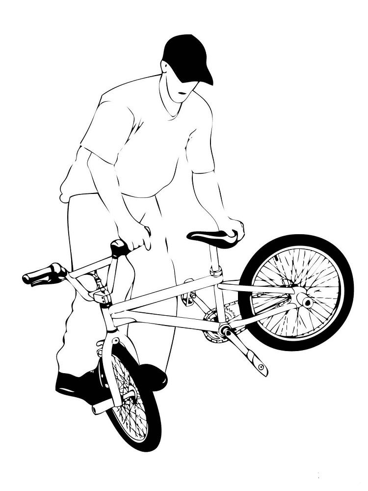 bmx printable coloring pages cool cycling bike coloring page cool coloring pages coloring pages bmx printable