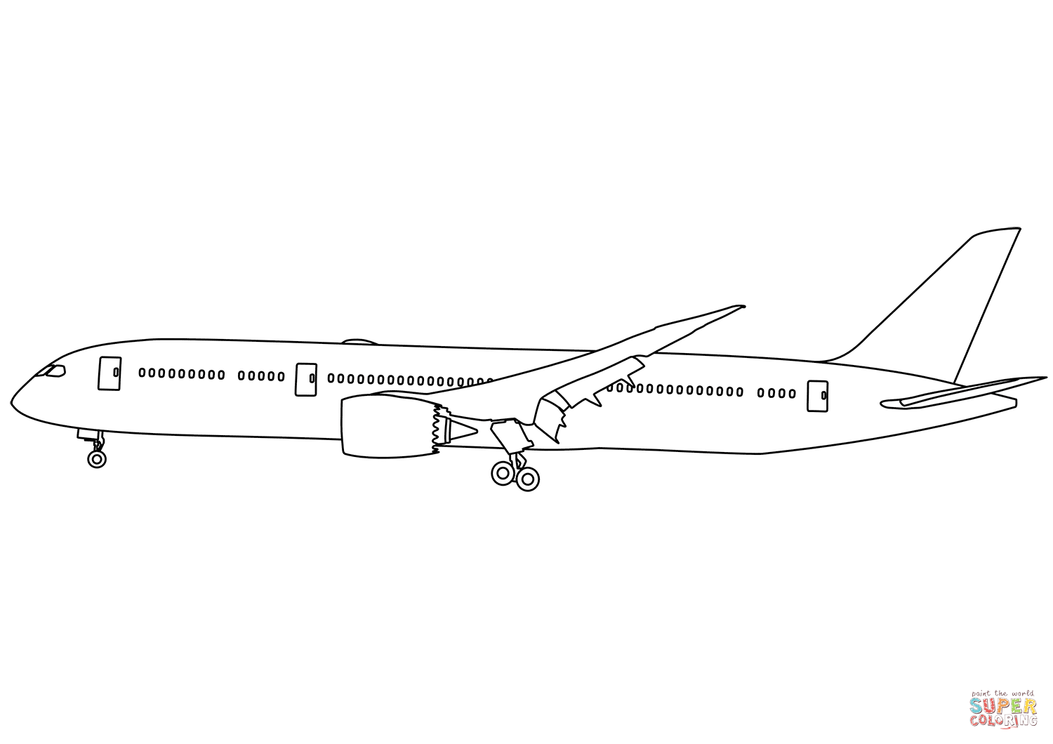 boeing 777 coloring page line drawing boeing 777 drawing coloring boeing page 777