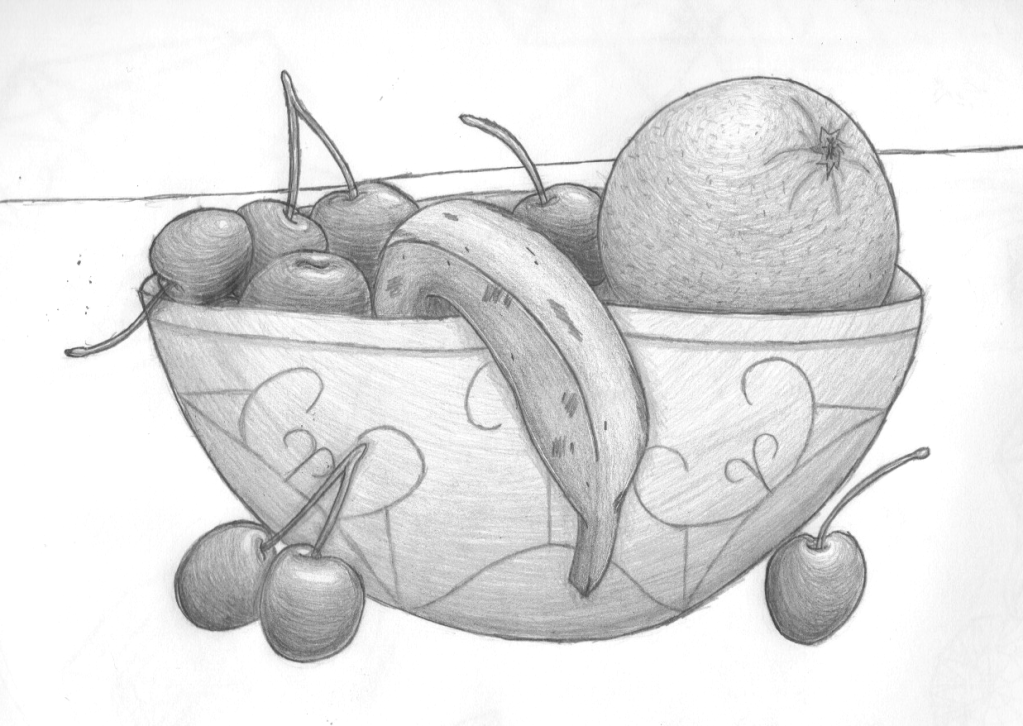 bowl of fruit drawing bowl of fruit by pmucks on deviantart of fruit drawing bowl