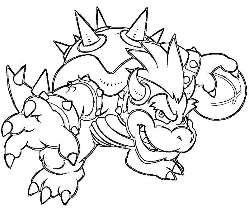 bowser to color baby bowser coloring pages coloring home color to bowser