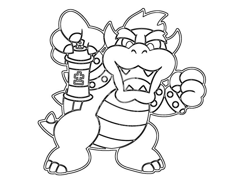 bowser to color bowser coloring page educative printable bowser color to