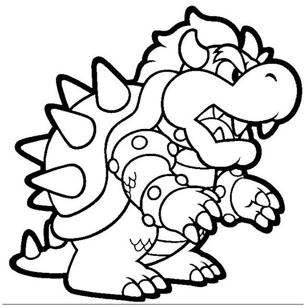 bowser to color bowser coloring pages best coloring pages for kids bowser color to
