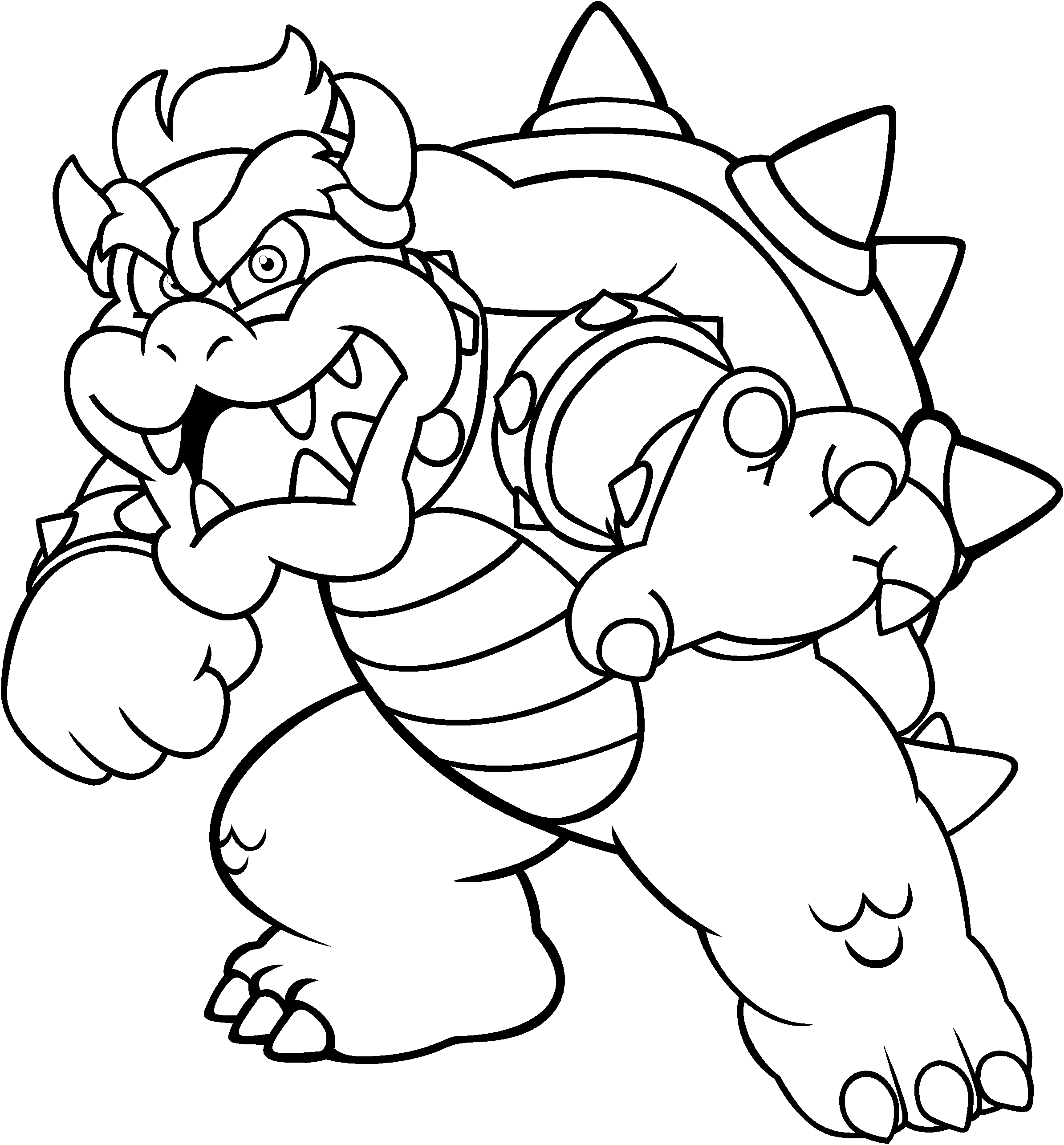 bowser to color bowser coloring pages online coloring home bowser color to