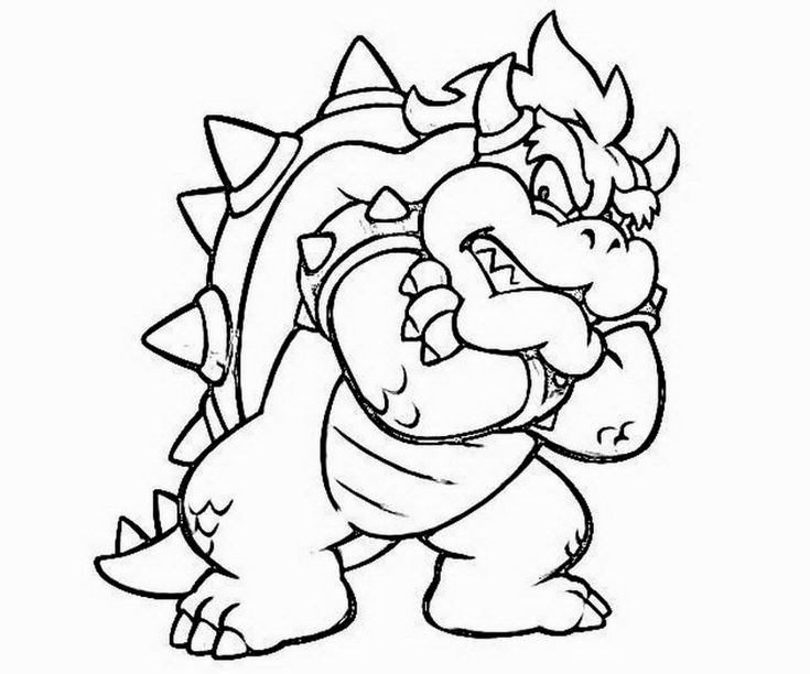 bowser to color bowser coloring pages to print coloring home bowser to color