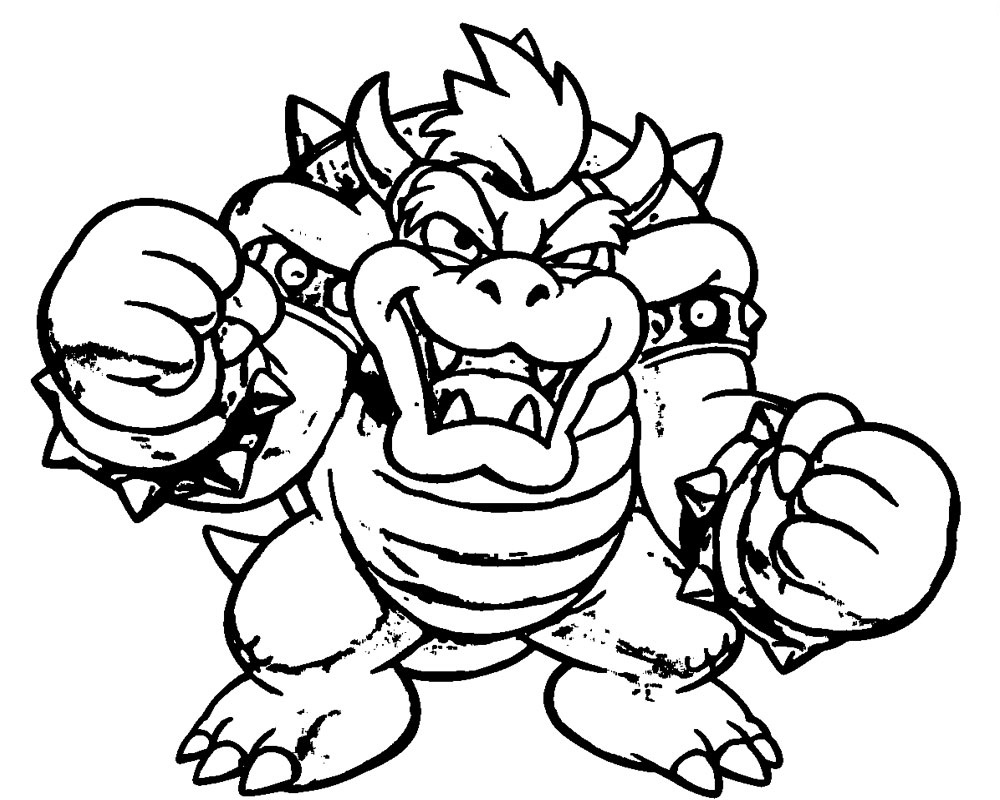 bowser to color bowser jr coloring pages coloring home color to bowser