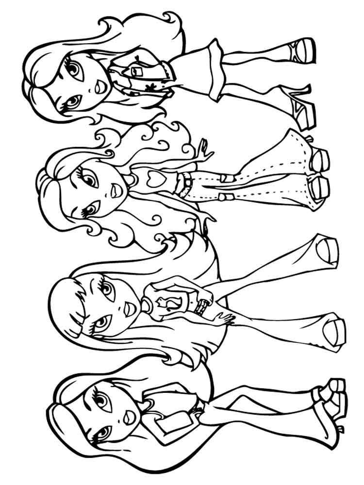 bratz dolls coloring pages bratz dolls coloring pages download and print for free bratz coloring dolls pages