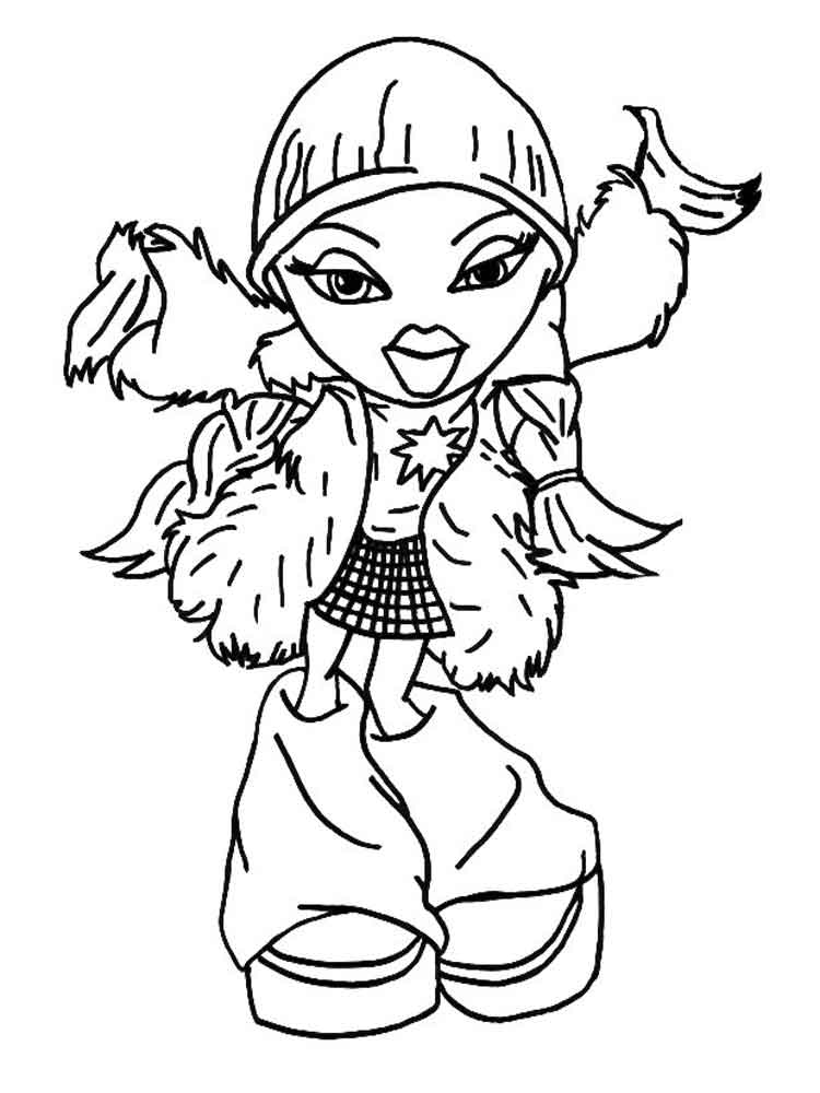 bratz dolls coloring pages bratz dolls coloring pages download and print for free coloring pages dolls bratz