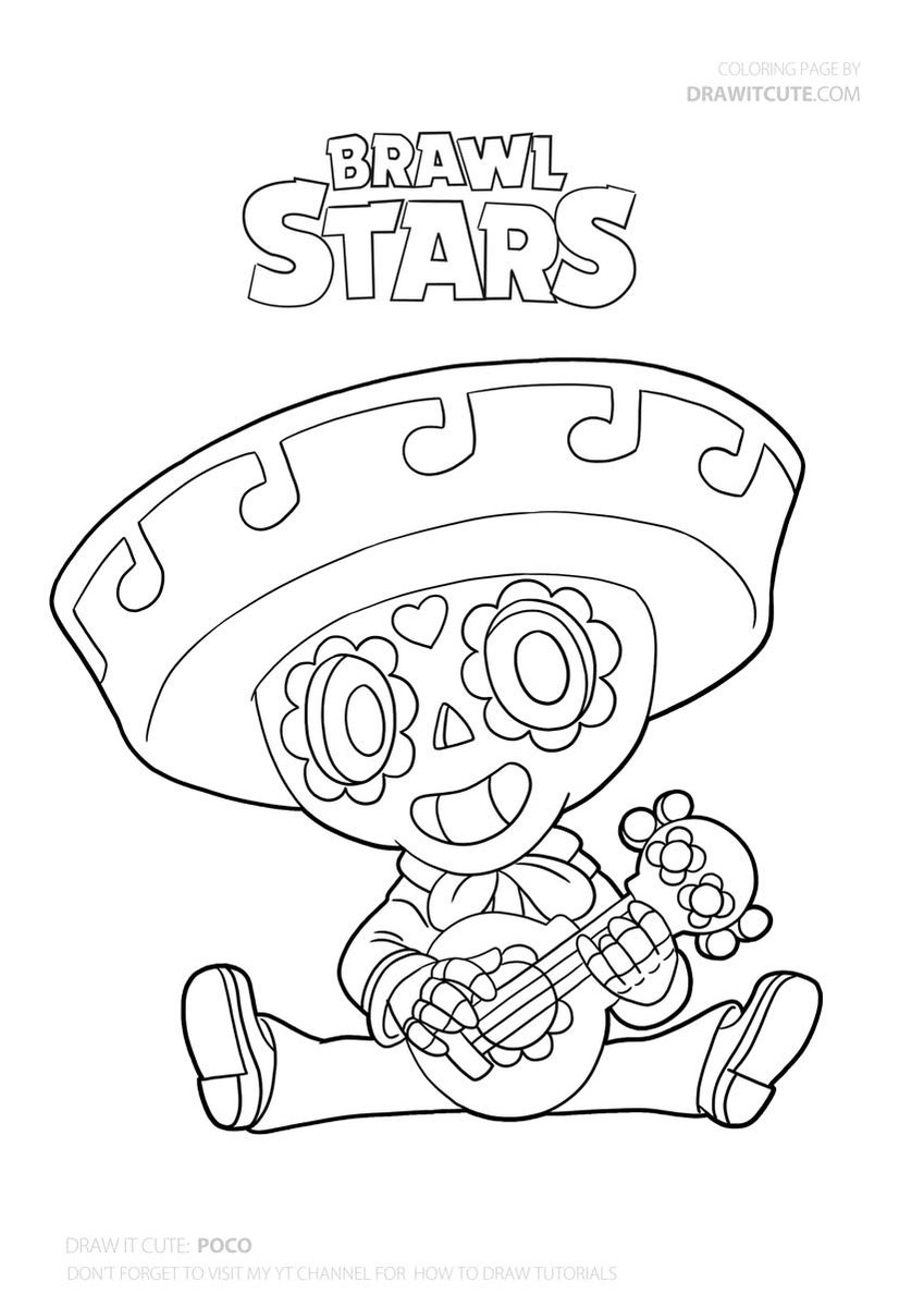 brawl star coloring brawl stars coloring pages download and print brawl stars brawl coloring star