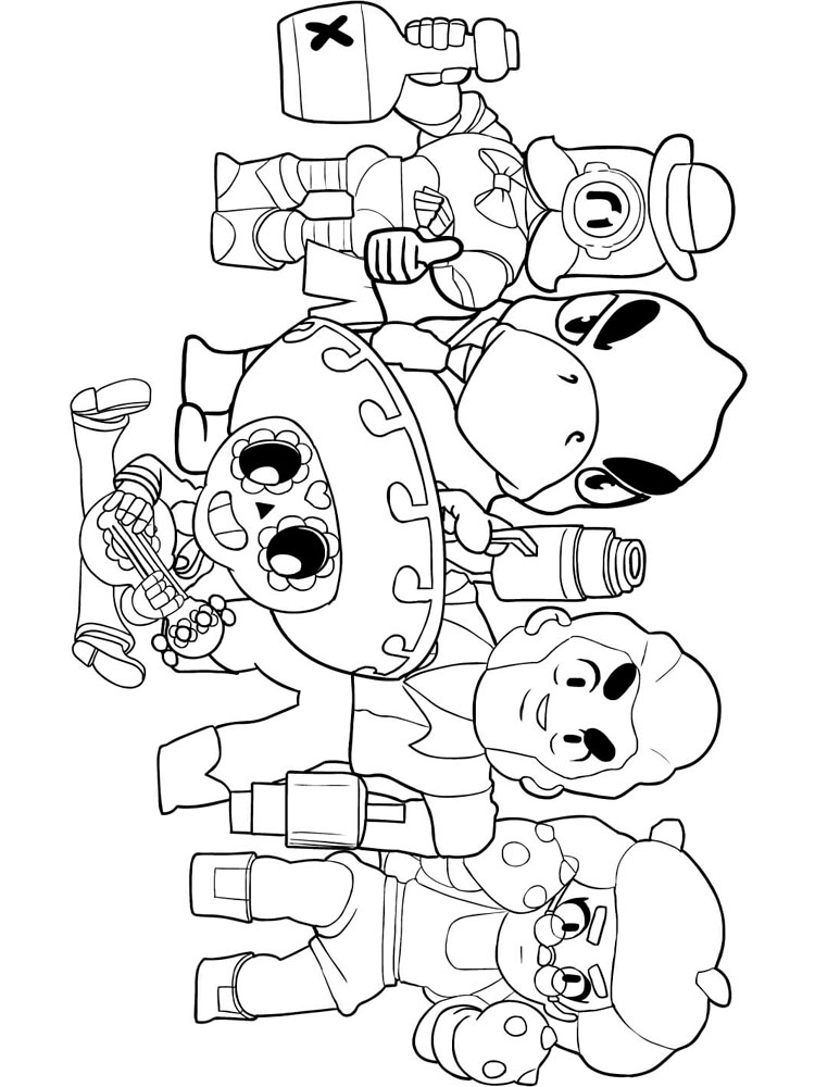 brawl star coloring brawl stars coloring pages download and print brawl stars brawl coloring star 1 1