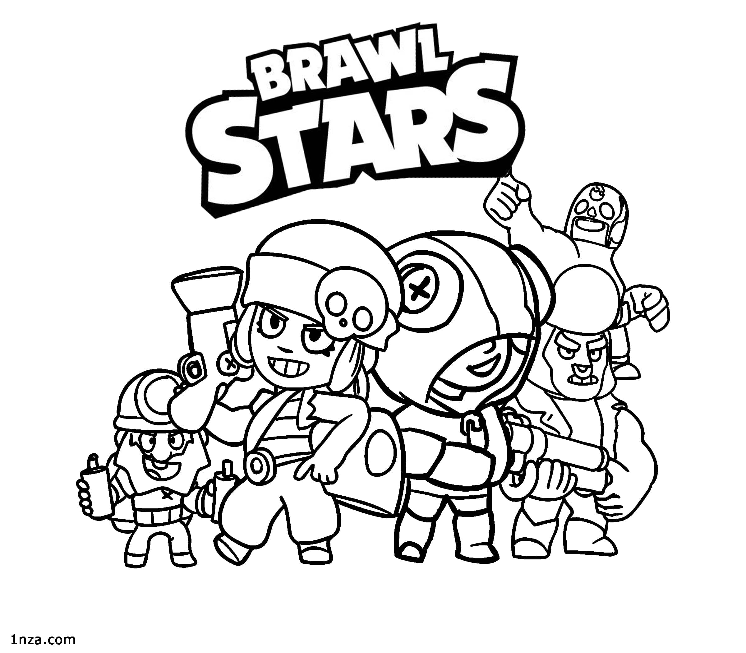 brawl star coloring brawl stars coloring pages free printable coloring pages star coloring brawl