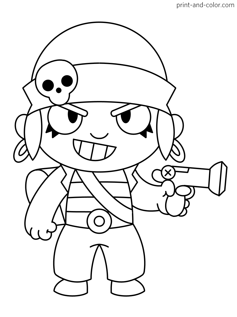 brawl star coloring brawl stars coloring pages print and colorcom coloring brawl star
