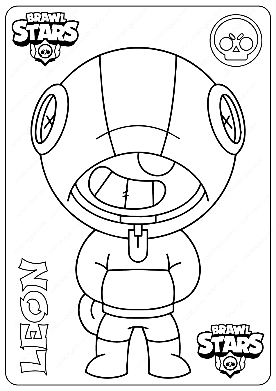 brawl star coloring brawl stars coloring pages print them for free coloring star brawl